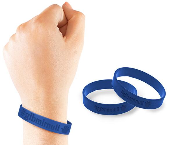GibmirNULL Armband mit Hashtag #gibmirnull