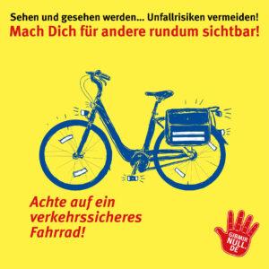 Sehen und gesehen werden: Mach dich sichtbar: Achte auf ein verkehrssicheres Fahrrad!