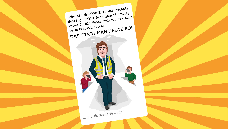 Warnweste und Arbeitsschutz macht Spaß