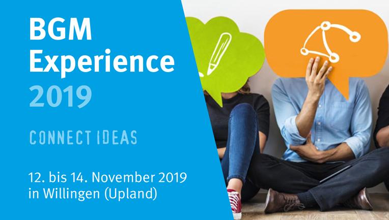 Einladung zur Veranstaltung BGM Experience Day 2019