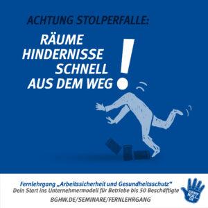 Achtung Stolperfalle: Räume Hindernisse schnell aus dem Weg!