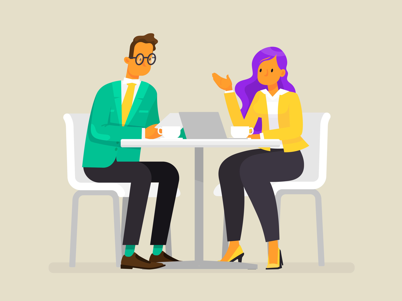 Mitarbeitergespräch zu zweit in entspannter Atmospäre