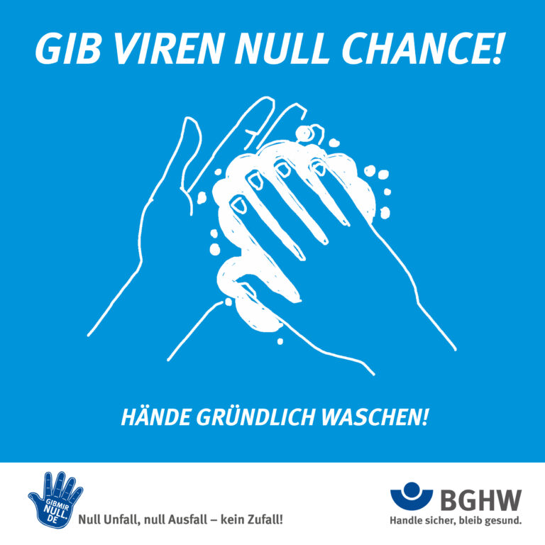 Grafik: Hände gründlich waschen!