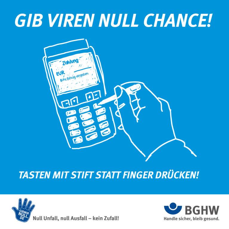 Gib Viren null Chance! Tasten mit Stift statt Finger drücken!