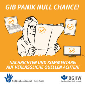GIB PANIK NULL CHANCE! Nachrichten und Kommentare auf verlässliche Quellen achten!