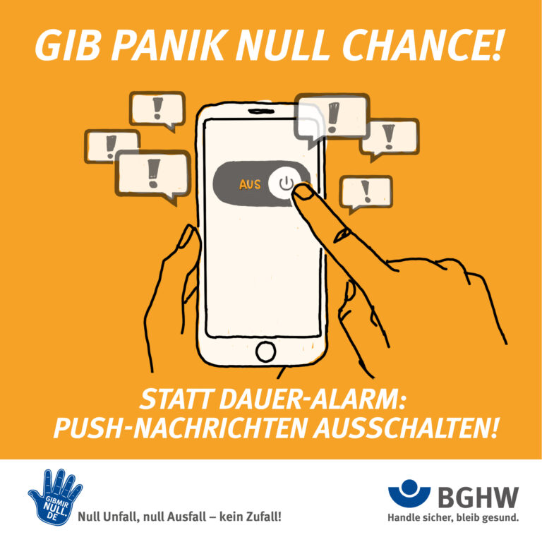 GIB PANIK NULL CHANCE! Statt Dauer-Alarm: Push-Nachrichten ausschalten!