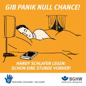GIB PANIK NULL CHANCE! Handy schlafen legen: Schon eine Stunde vorher!