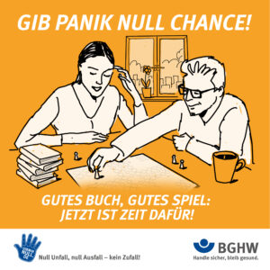 GIB PANIK NULL CHANCE! Gutes Buch, gutes Spiel: Jetzt ist Zeit dafür!
